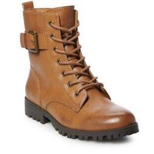 Women's SO Cognac Combat Boots brown 8W